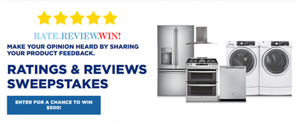 Rate. Review. Win with GE!