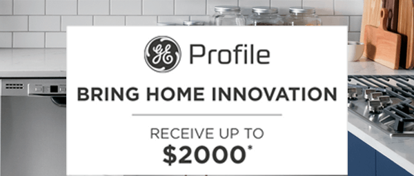 GE Profile appliances rebate