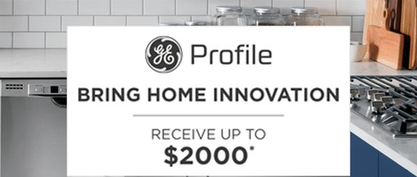 GE Profile appliances rebate